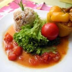 фото рецепта Перец фаршированный под томатным соусом