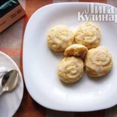 Лимонно-творожное печенье