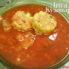 Томатный суп с кукурузой