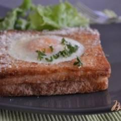 фото рецепта Яичница в хлебных тостах