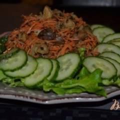 Салат из моркови с каштанами