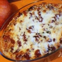 Рыбно-рисовая запеканка  под тыквенно-томатным соусом