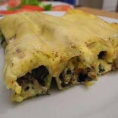 фото рецепта Каннеллони с мясом и шпинатом