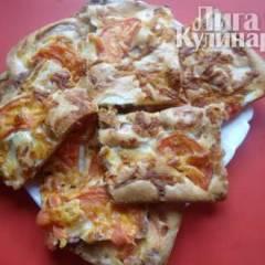 Пицца на заливном тесте