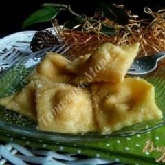 Равиоли с копченой рыбой и сыром