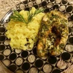 Рис с чесноком, луком и имбирем