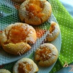 Песочное печенье с яблочно-медовой начинкой