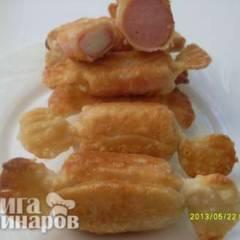 """фото рецепта """"Закусочные конфетки"""" из сосисок и крабовых палочек"""