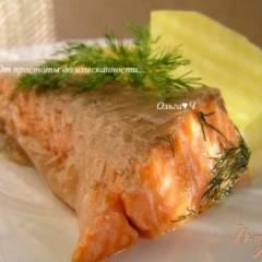 Ужин на парУ в мультиварке: Лосось в укропе с картошечкой