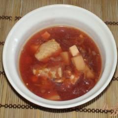 фото рецепта Свекольник со свининой