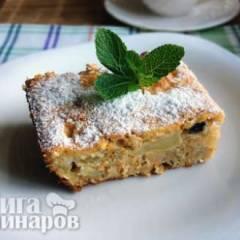 Овсяный пирог с морковью и яблоками