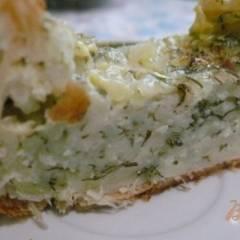 Пирог из слоеного теста с начинкой из зерненого творога