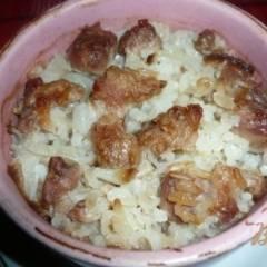 Рисовая каша с мясом в горшочке