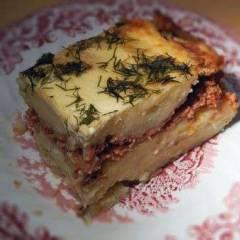 фото рецепта Картофельная запеканка с фаршем и грибами