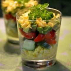 Салат с авокадо и с овощами