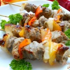 фото рецепта Свиной шашлык на сковороде-гриль