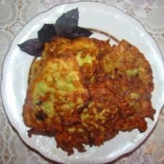 Оладьи из кабачков с базиликом