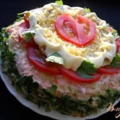 Блинный пирог-торт из кабачков