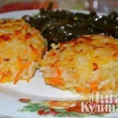 Картофельно-рисовые постные котлеты