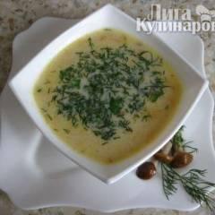 фото рецепта Суп-пюре из плавленых сырков с грибами