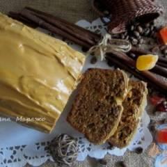 Кекс с цукатами и кофейной глазурью