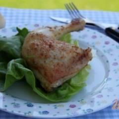 Куриные окорочка в в горчично-винном соусе
