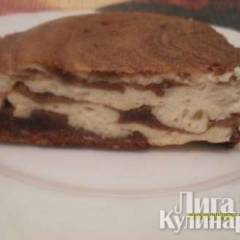 Шоколадно-творожный брауни с бананом
