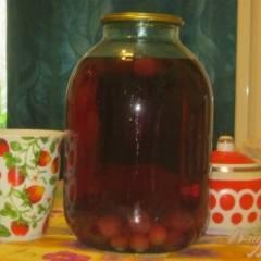 фото рецепта Компот из вишни с черешней