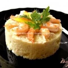 Салат с пшеном, тунцом и морепродуктами