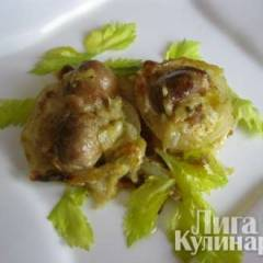 Картошечка под грибами, запеченная в духовке