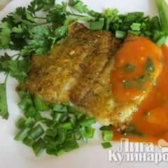 Морской язык в кисло-сладком соусе
