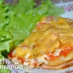 Индейка запечённая с картофелем под сыром