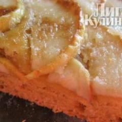 Пирог из пресного теста с яблоками