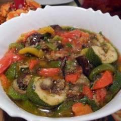 фото рецепта Салат-гарнир из запеченных овощей