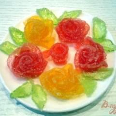 фото рецепта Розочки из мармелада (для украшения тортов)