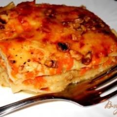 Лазанья с тыквой, сыром и грецкими орехами