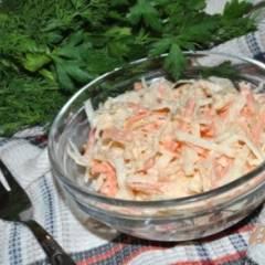Салат из черной редьки с морковью и сельдереем