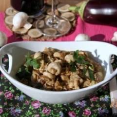 Закуска из баклажан и шампиньонов