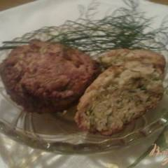 Сырные кексы с укропом и тмином