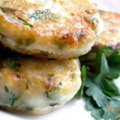Картофельные котлеты с зеленью