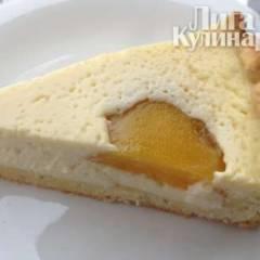 Творожный пирог с персиками (Чизкейк с персиками)