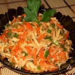 Салат из редьки с морковью и сыром