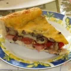 Пицца с грибами из слоеного теста