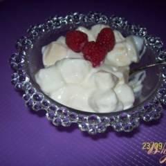 Творожно-фруктовый десерт.