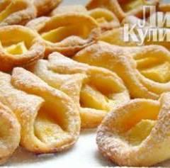 фото рецепта Творожные рогалики с яблоками