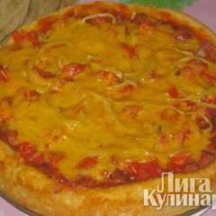 Пицца на нежнейшем мягком творожном тесте