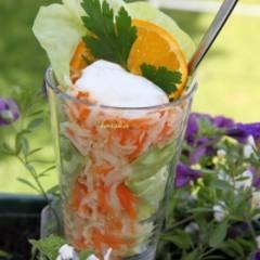 Салат из редьки и моркови с сыром