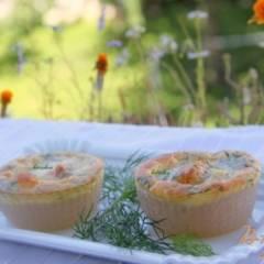 Мини-запеканки из саго с лососем
