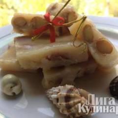 Сливочные ириски с орехами