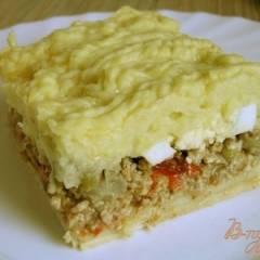 Аргентинский мясной пирог с картофелем